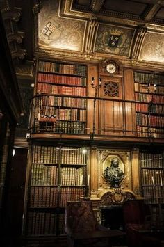 Library, Chantilly, France by janis