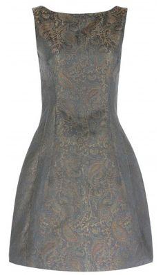 Metallic Jacquard Tulip Dress