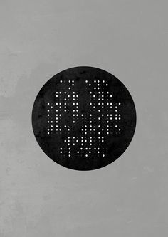 """An eye for eye only ends up making the whole world blind."" - Mahatma Gandhi Quote written in braille."