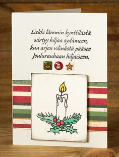 Kynttilät kuuluu jouluun! Christmas Quotes, All Things Christmas, Christmas Time, Christmas Crafts, Merry Christmas, Xmas, Hobbies And Crafts, Diy And Crafts, Cute Cards