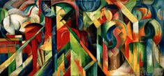 Franz Marc - Stallungen (Stables) - another one of my all-time favorite works of art
