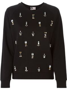 Shop Lanvin embellished sweatshirt  in Bernardelli from the world's best independent boutiques at farfetch.com. Shop 300 boutiques at one address.