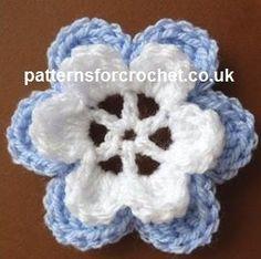 Free crochet pattern layered flower motif uk