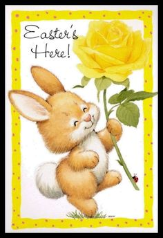 154-GC Ruth Morehead RABBIT Unused Easter Greeting Card | eBay