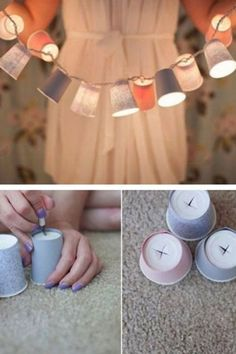 DIY-Deko: Zauberhafte Ideen zum Selbermachen Great decoration does not necessarily have to be expensive. We'll show you how to make your home beautiful with simple means … Diy Simple, Easy Diy, Simple Crafts, Upcycled Home Decor, Diy Home Decor, Upcycled Garden, Upcycled Crafts, Room Decor, New Swedish Design
