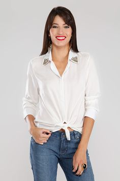 Camisa Gola Off White Off White - Carlos Miele Jeans | Brandsclub.