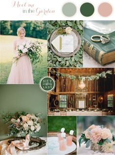 Down the Garden Path - Forest Green and Blushing Peach Wedding
