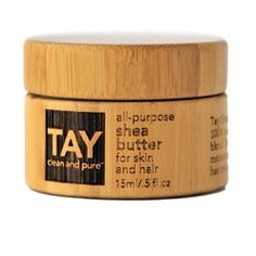 TAY - All-Purpose Shea Butter for Skin and Hair - beautiful bamboo packaging for the entire Tay line