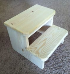 Hall Bathroom Small child's Wooden Step Stool by WoofpackWoodcrafts on Etsy, $25.00