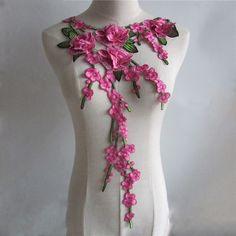 Новинка Craft воротник цветок Венеция блесток цветочной вышивкой аппликацией отделкой оформлен Кружева декольте Воротник Швейные 1 шт. YL426
