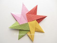 Stars come in all shapes and sizes, here are some fun origami stars that you can personalize with colors and designs.  Origami Stars Folding Instructions - How to Fold an Origami Star