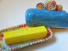 ceramic butter dish by charityhofert, via Flickr
