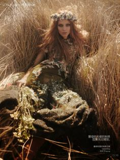 """""""Smells Like Teen Spirit"""" Kati Nescher in Valentino by Mikael Jansson for Vogue China July 2014"""