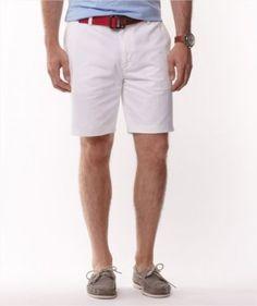 Bermuda Nautica Men's Cotton Twill Short Bright White #Bermuda #Nautica