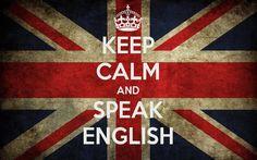 Keep calm & speak English