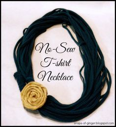 No Sew T-shirt Necklace
