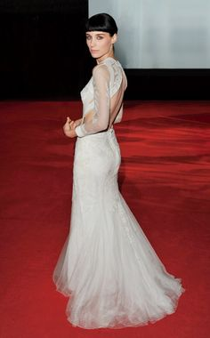 Rooney Mara in Givenchy Haute Couture by Riccardo Tisci | London Girl With a Dragon Tattoo Premier