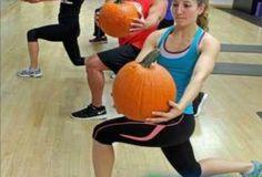 P90X pumpkin workout. Love the halloween workouts happening!