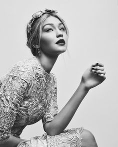 """m-a-g-n-e-t-i-c-e-y-e-s: """"Baroque Style: Gigi Hadid by Greg Harris for Vogue December 2015. """""""