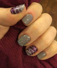 Lovely Glitter Nail Art Designs