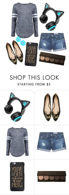 """""""Kitten Me"""" by racheld725 ❤ liked on Polyvore featuring Brookstone, Kate Spade, Boohoo and AG Adriano Goldschmied"""