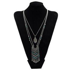 Kazzel Long Tassel Chain Necklace