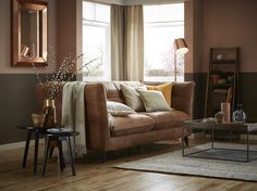 Tan leather sofas are classic investment pieces… and the great news is that they are the perfect fit for this trend | www.dfs.co.uk/content/terracotta