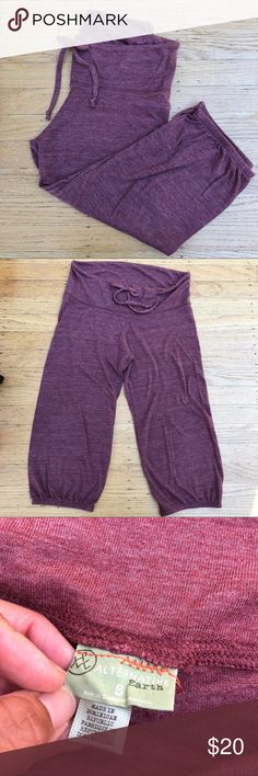 Lounge Capri pants Soft and comfy lounge pants. Perfect for summertime as these are on the thin side. Color is heathered and muted reddish purple Alternative Pants Capris
