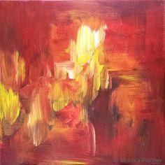 Die Elemente - Feuer III   -   Acryl auf Leinwand   -   20 x 20 cm