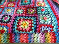 Sweet Flower Granny Blanket  Almost every crochet blogger knows Lucy from Attic24.  Her colour work always brings a smile to my face when I need it most.  Isn't this just lovely?