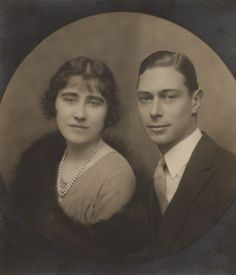 The Duke York & Elizabeth Bowes Lyon 1923