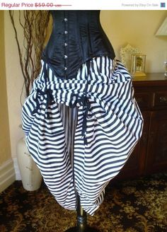 Halloween Sale Black and White Circus Bustle Skirt-One Size Fits All on Etsy, $44.25