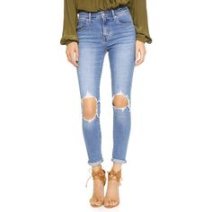 Levi's 721 High Rise Distressed Skinny Jeans (2.515 UYU) ❤ liked on Polyvore featuring jeans, pants, bottoms, denim, rugged indigo, destroyed skinny jeans, high waisted distressed skinny jeans, high waisted distressed jeans, distressed skinny jeans and skinny jeans