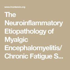 The Neuroinflammatory Etiopathology of Myalgic Encephalomyelitis/Chronic Fatigue Syndrome (ME/CFS) | Physiology