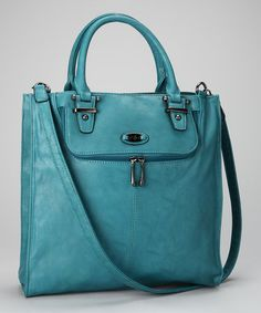 Take a look at this Peacock Blue Divided Tote by David Jones on #zulily today!