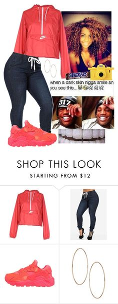 """A Darkskin N*gga"" by hellacurlz2000 ❤ liked on Polyvore featuring NIKE and Moschino"