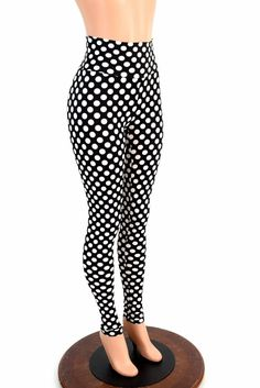 765d900feb505 Polka Dot High Waist Pinup Leggings – Coquetry Clothing Muffin Top, Page  Sizes, Polka