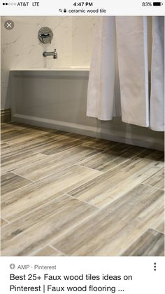 Ceramic Faux Wood Floor Tiles
