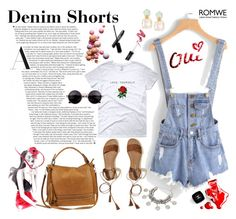 """Denim Shorts"" by manuelsbolli ❤ liked on Polyvore featuring Hollister Co., Urban Expressions and Chanel"