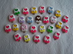 Lot of 12 Mixed Color Kawaii Popsicle Ice Cream by TrizzyBows, $4.00