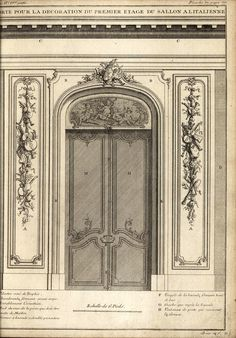 Section of a Salon à l'Italienne, Paris