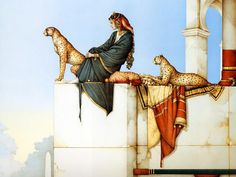 Michael Parkes Oil Painting