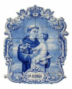 santo antónio painéis de azulejo pintados á mão azulejos 15x15,tintas ceramicas,cozedura a 800º pintado á mão