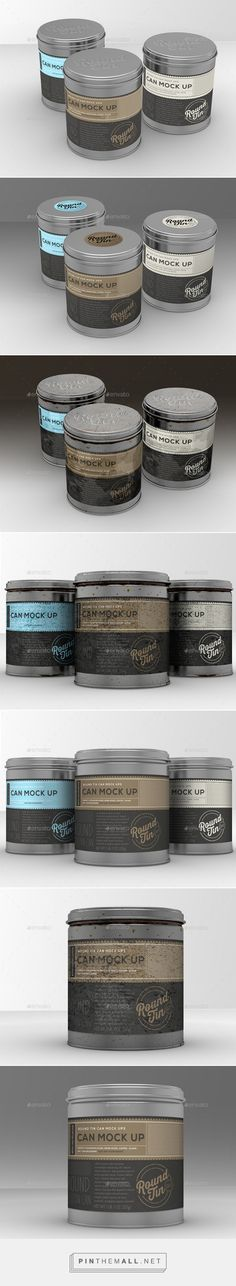 Round Tin Cans Vol.1 Packaging Mock Ups GraphicRiver