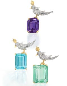 Tiffany and CO Bird Brooches