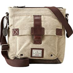 (Limited Supply) Click Image Above: Fossil Trail Canvas N/s City Bag Khaki - Fossil Men's Bags