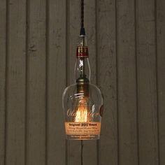Old Weller Bottle Pendant Light  Upcycled by FallsCityLighting