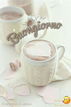 Good Morning Coffee, Good Morning Quotes, Coffee Time, Italian Memes, Knit Art, Happy Day, Decir No, Place Card Holders, Emoticon