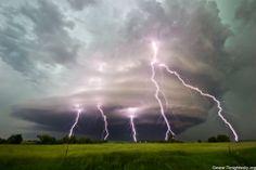 Supercell thunderstorm in Cuming County Nebraska June 2013