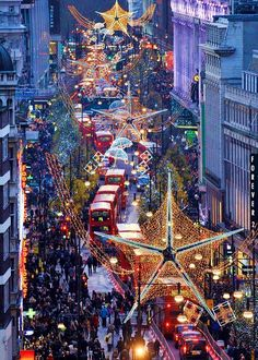 Oxford Street London England at Christmas. Best place to be in London at Christmas. Oh The Places You'll Go, Places To Travel, Places To Visit, Weihnachten In London, Oxford Street London, Carnaby Street, London City, Westminster, Destinations
